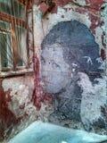 för grafittigata för konst färgrik räknad vägg minsk Röd gård Royaltyfri Foto