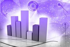för grafmakro för affär dynamiska försäljningar Arkivfoton