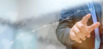 för grafmakro för affär dynamiska försäljningar Arkivbild