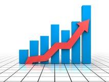 för grafmakro för affär dynamiska försäljningar stock illustrationer
