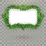 För granträd för jul dekorativ ram med kopieringsutrymme och skugga 10 eps stock illustrationer