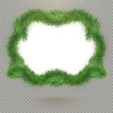 För granträd för jul dekorativ ram med kopieringsutrymme och skugga 10 eps vektor illustrationer