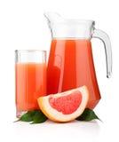 för grapefrukttillbringare för frukter full glass fruktsaft Royaltyfri Bild
