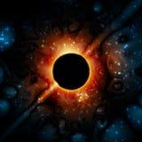 För gravitationuniversum för svart hål Supermassive utrymme Royaltyfri Fotografi