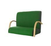 för greenillustration för bakgrund 3d white för sofa Arkivbild