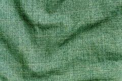 För grov bomullstvilltextil för grön färg yttersida för torkduk Arkivfoton