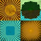 För Grungebakgrund för Sunburst Retro texturerad uppsättning Royaltyfri Fotografi