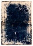 för grungesida för blå bok scrolls stock illustrationer
