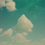 För grungetextur för molnig himmel bakgrund Royaltyfri Fotografi