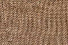 För Grungetextur för säckväv kanfas skrynklig prövkopia Arkivbild