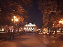 För gryning sommar, lviv arkivbilder