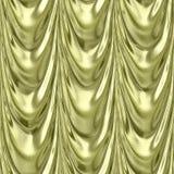 För gul sömlös modell textilgardin för guld Royaltyfri Fotografi