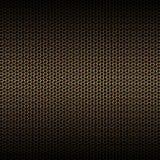 För guldkol för uppsättning 8 ingrepp för fiber på den svarta metallplattan royaltyfri illustrationer