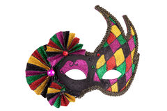 för guldmaskering för karneval festlig original Arkivfoto