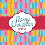För hälsningkort för glad jul bakgrund. Royaltyfri Fotografi