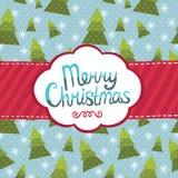 För hälsningkort för glad jul bakgrund. Royaltyfria Foton