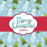 För hälsningkort för glad jul bakgrund. Royaltyfria Bilder