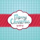 För hälsningkort för glad jul bakgrund. Royaltyfri Bild
