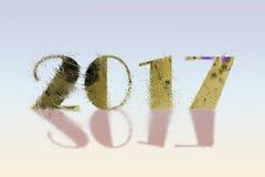För hälsningkort för lyckligt nytt år 2017 idérik design Royaltyfria Bilder