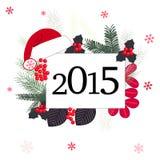För hälsningkort för lyckligt nytt år vektor Royaltyfria Bilder