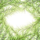 För hälsningkort för festlig glad jul och för lyckligt nytt år mall Ram av trädfilialer 10 eps royaltyfri illustrationer