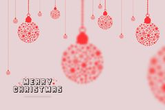 För hälsningkort för glad jul bakgrund för illustration för design för bokstäver Royaltyfri Fotografi