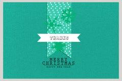 För hälsningkort för glad jul och för festivalberömmar för nytt år design Arkivbild