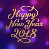 För hälsningkort för lyckligt nytt år 2017 märka design Royaltyfri Fotografi