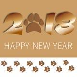 för hälsningkort för 2018 text mall för design med illustrationen för vektor för lyckligt nytt år för fotspår Royaltyfri Bild