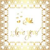 ` För hälsningkortet älskar jag dig! `, Royaltyfria Foton