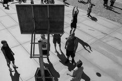 för hälsolivstid för basket fri tid för gata för sport Royaltyfri Bild