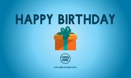 För händelsetillfälle för lycklig födelsedag begrepp för årsdag Fotografering för Bildbyråer