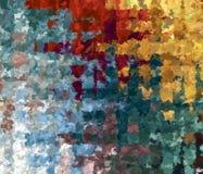 För härlig abstrakt Mång--färg för Digital målning bakgrund för modell för kontroll kaotisk gingham stock illustrationer