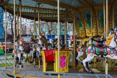 ` För hästar för ` för karusell för barn` s, royaltyfria bilder