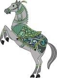 För hästsköld för vektor traditionell design/logo royaltyfri illustrationer