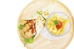 För hönabedragare för bästa sikt småfiskar och stekt Royaltyfria Bilder