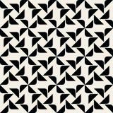 För hörntriangel för vektor geometrisk modell för sömlös svartvit rundad fyrkant Royaltyfria Foton