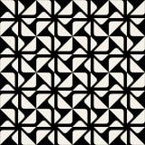 För hörntriangel för vektor geometrisk modell för sömlös svartvit rundad fyrkant Royaltyfria Bilder