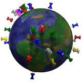 för H-översikt för jord östliga halsar Arkivbild