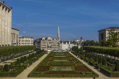 För Hall Mont för tornspiraBryssel stad konster Belgien des Arkivfoton