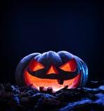 för halloween för dator 3d mörk frambragd pumpa bild Royaltyfri Foto