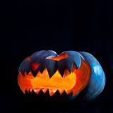 för halloween för dator 3d mörk frambragd pumpa bild Fotografering för Bildbyråer