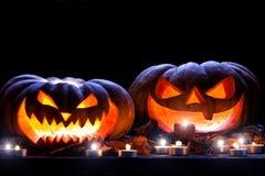 för halloween för dator 3d mörk frambragd pumpa bild Royaltyfria Bilder