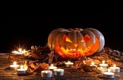 för halloween för dator 3d mörk frambragd pumpa bild Royaltyfri Fotografi