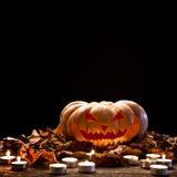 för halloween för dator 3d mörk frambragd pumpa bild Arkivfoto