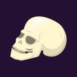 För halloween för stilskalleframsida ondska för gotiskt mänskligt skelett- symbol för garnering för tecknad film för konst för an royaltyfri illustrationer