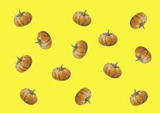 För halloween för vattenfärgillustrationkort grönsak för höst pumpa stock illustrationer