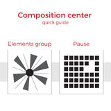 För handbokvektor för sammansättning snabb illustration Stock Illustrationer