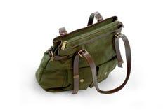för handhandväska för påse grön kvinna Royaltyfri Bild