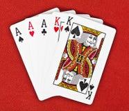 för handhus för bakgrund full kunglig person för red för poker Arkivbilder